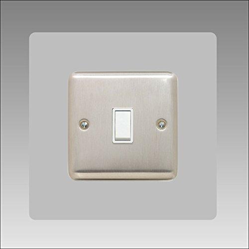 Einzel-Surround   Back Panel oder Finger Teller   3mm   16Farben (schwarz, grau weiß, elfenbeinfarben, blau, braun, grün und viele mehr) erhältlich   quadratisch   Lichtschalter Acryl, grau