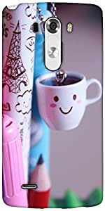 Snoogg Smile Cups Designer Protective Back Case Cover For LG G3