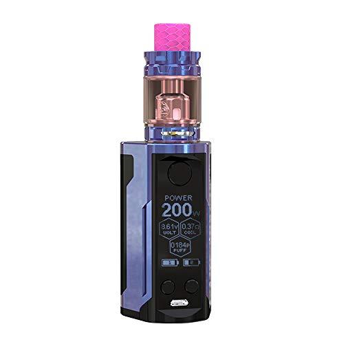 Wismec Reuleaux RX GEN3 Dual mit GNOME King Kit Vape Akku 230W E zigarette Versenkbare Top Fill mit 5.8 ml(100% Original)/Ohne Nikotin Ohne Tabak (Glanz Lila Blau)