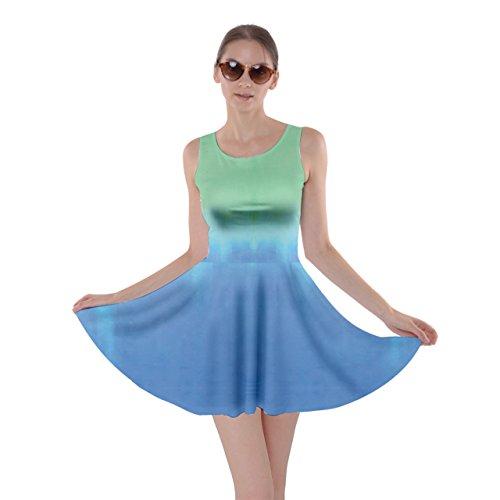 CowCow - Robe - Femme multicolore Vert/bleu bleu acier