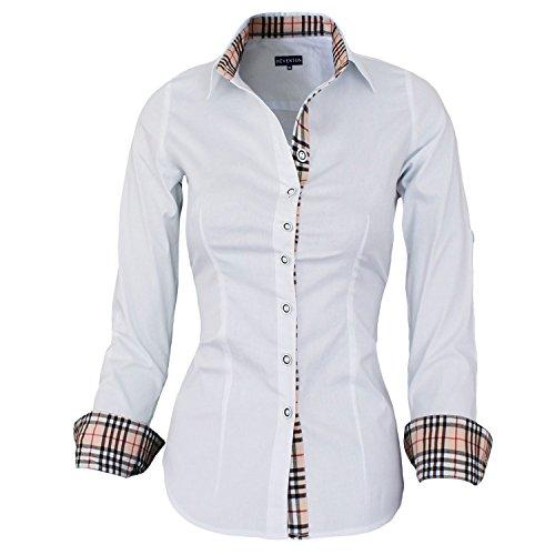 HEVENTON® Damenbluse Bluse Hemd Business Langarm 1159 Größe 42