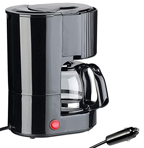Rosenstein & Söhne Kfz Kaffeemaschine: LKW-Filterkaffee-Maschine, bis zu 3 Tassen, 650 ml, 24 Volt, 300 Watt (Reise-Kaffeemaschine)
