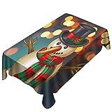 MAYOGO Neujahr&Weihnachen Tstischdecke,3D Drucken Tabelle Tisch Urlaub Party Home Decor Outdoor Tischaufsätze Decken