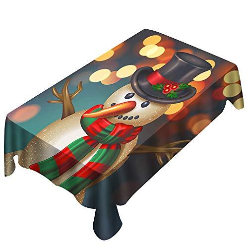 Weihnachts tischdecke Drucken Rechteck Tisch Decken Urlaub Party Home Decor YunYoud Schneemann musterdruck Weihnachts Elemente (Urlaub Elemente Weihnachten)