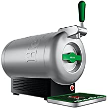 Krups The Sub Heineken VB650E10 - Tirador de cerveza, 2 L frescos de la cerveza 15 días, hasta 2º, eficiencia energética A+, silencioso, indicador listo para servir, color gris acero