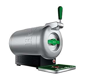 THE SUB Heineken Edition, Krups VB650E10, Luxus-Design von Marc Newson. Genießen Sie zu Hause Premium-Fassbier, Fassbiere aus der ganzen Welt, Extrakühl bei 2° C serviert