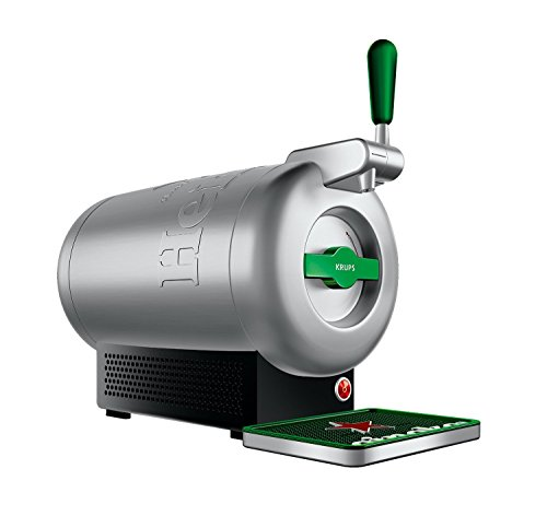 Krups The Sub Heineken VB650E10 - Beer shooter, 2 L fresh beer 15 days, up to 2º, energy efficiency A +, silent, indicator ready to serve, gray steel color
