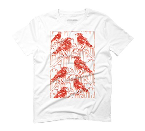 RED RAVENS Men's Graphic T-Shirt - Design By Humans White
