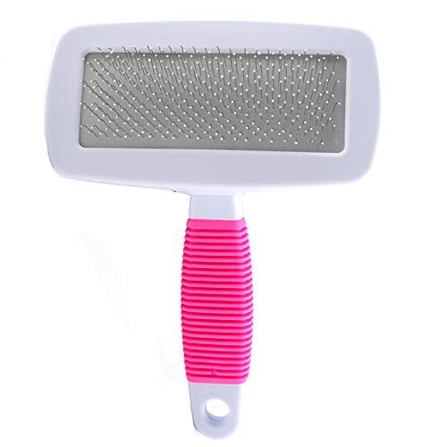 Yslin Haarentferner Handschuh Slicker Brush Pet Pin Kamm-Bürsten-Massage-Werkzeug Pet Hair Brush Pin Fellpflege Trimmer Kamm-Werkzeug für Hund und Katze Massage Werkzeug -