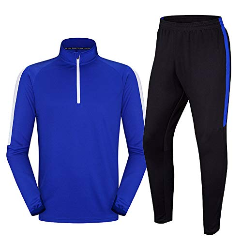 QAZWSX Kinder Fußball Trainingsanzug Langarm-Anzug Sport Running Fitness Kleidung Kindergarten Männer Und Frauen Erwachsene Sportbekleidung -