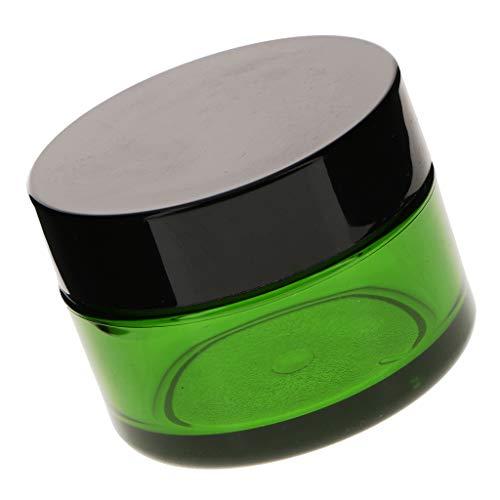 B Blesiya Hochwertig Leer Gel-Dosen Cremedosen Tiegel Lotion Kosmetische Behälter - Grün