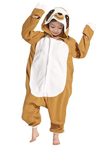 psuit Onesie Mädchen Junge Kinder Tier Karton Halloween Kostüm Sleepsuit Overall Unisex Schlafanzug Winter, Faultier ()