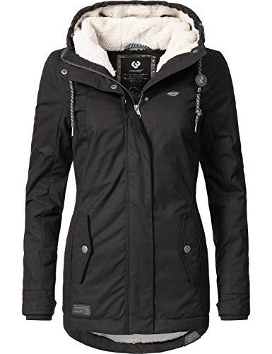 Ragwear Damen Winterparka Winterjacke Monade Black018 Gr. S