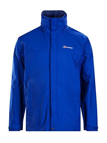 berghaus Wasserdicht RG Alpha Herren Hooded Outdoor Jacke erhältlich in intensiven blau-kleine Nylon-walking-mantel