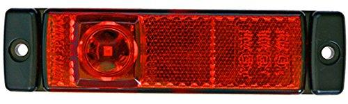 HELLA 2TM 008 645-951 Begrenzungsleuchte, Anbau waagerecht/senkrecht, LED, 500 mm Kabel, 24 V, rot