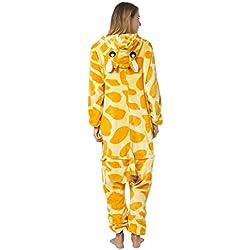 Katara - Disfraz Pijama de Una Pieza Adultos, Color Jirafa, Talla 165-175cm (L)