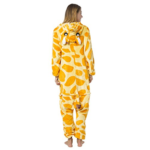 Kinder Giraffe Kostüm - Katara 1744 -Giraffe Kostüm-Anzug Onesie/Jumpsuit Einteiler Body für Erwachsene Damen Herren als Pyjama oder Schlafanzug Unisex - viele verschiedene Tiere