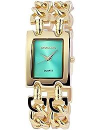 Trend de Wares de mujer reloj de pulsera turquesa oro analógico de cuarzo cadena de metal pulsera mujer Reloj
