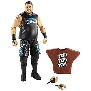 Mattel WWE-Elite Figura de acción Luchador Kevin Owens, Juguetes niños +8 años, Multicolor GCL34