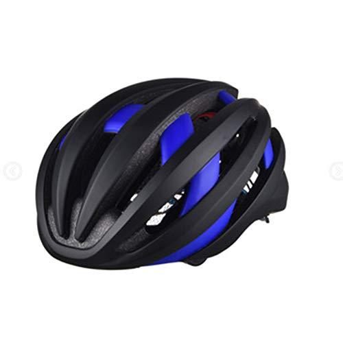 Fahrradhelm mit LED-Beleuchtung, Bluetooth, Fahrradhelm, blau, L(54