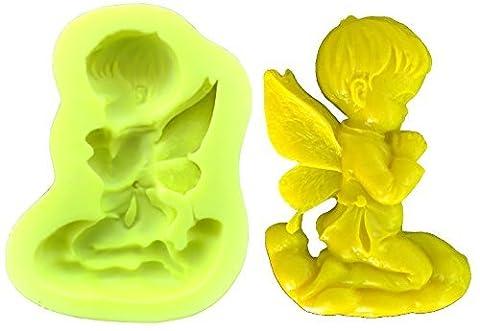 Moule en silicone pour usage artisanal représentant un ange priant
