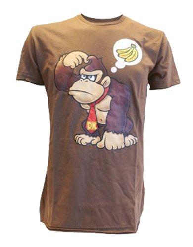 t-shirt-donkey-kong-wants-banana-brun-taille-l