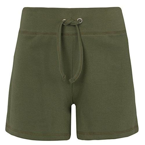 Label Your Love Damen-Shorts aus Baumwolle Khaki