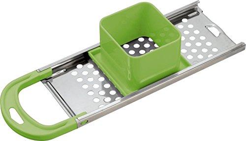 Acciaio inossidabile Pressa per grattugia 34x 11cm (gnoochi-Grattugia, Affettaverdure, raspa, manico in plastica,