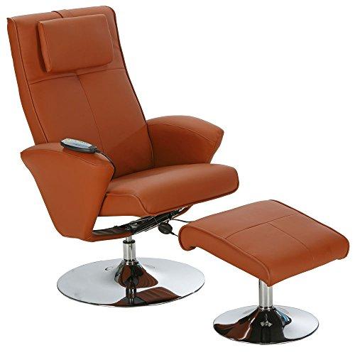 aktivshop Relax-Sessel »Design« Fernsehsessel mit Hocker drehbar (hellbraun)