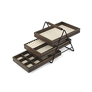 Umbra Jewelry Tray Walnut Terrace Schmucktablett Walnuss, Holz, 25.4 x 17.78 x 19.68 cm