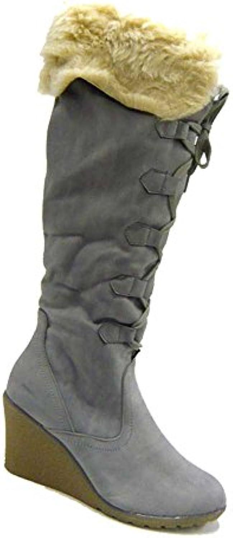 PUSCHEL Damen Schuhe Stiefel gefütterte Kunst Fell Boots