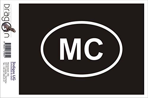 INDIGOS UG Aufkleber Autoaufkleber - JDM Die Cut Auto OEM - Monaco MC - 110x70 mm rot - Auto Laptop Tuning Sticker Heckscheibe LKW Boot
