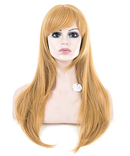 Spretty Capelli completa sexy lunga parrucca biondo dorato naturale Fine rullo parrucche per Daily Cosplay Costume Party