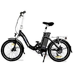 URBANBIKER Vélo électrique Pliant. Battery Lithium 36v 13 amps. (468 Wh) Moteur arrière 250 W. Pneus anticrevaison. Deux Ans Garantie. Livré 100% monté. Couleur Noir.