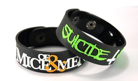 De Souris et Homme Suicide Silence Lot de 2(2x) Bracelet mmss Mix