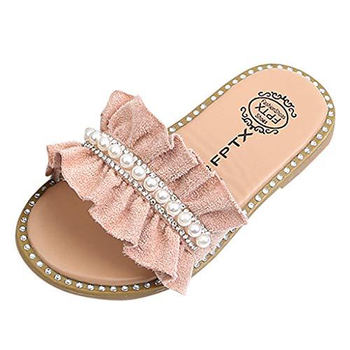 Baby Schuhe Baby Mädchen Perlen Kristall Rüschen Prinzessin Hausschuhe Schuhe Kleinkind Kinder Sandalen (Baby-mädchen Shoes Baby Dc)