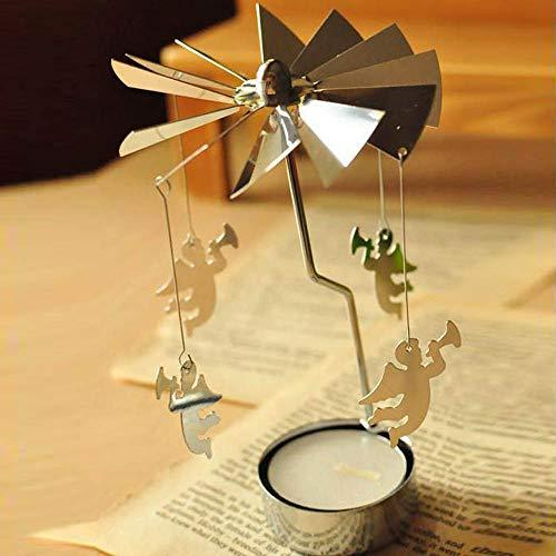 Gaddrt Weihnachten Kerzenhalter Rotary Spinning Teelicht Kerze Teelichthalter Karussell Home Decor...