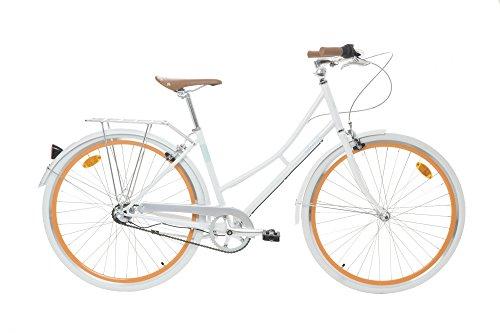 Fabric Cityrad - Hollandrad Damen Fahrrad, Shimano inter 3-Gang, 5 Farben, 14 Kg (White Whitechapel, 45)