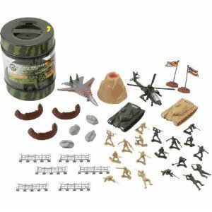 True Heroes - Military Playset - 72 Piece Set - With Storage Container - by True Heroes