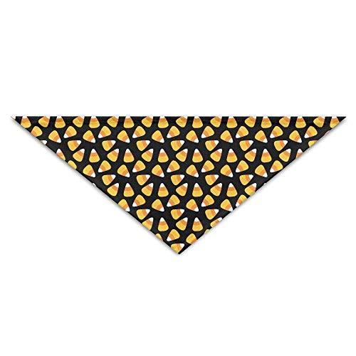 Halloween Süßigkeiten Mais Muster Hund Bandanas Schals Dreieck Lätzchen Schals Funny Basic Dogs Halstuch