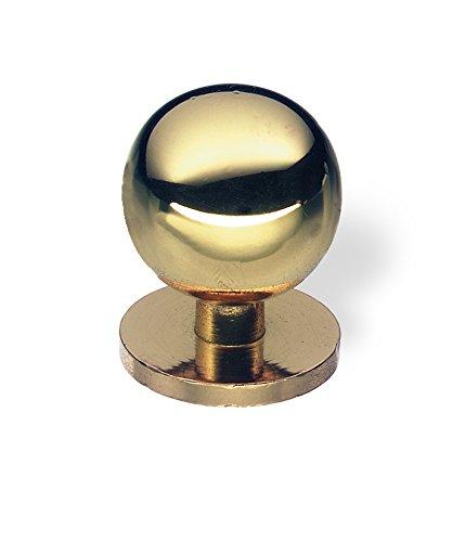 SCHWINN 44126 Knopf, Möbelknopf, Messing, Durchmesser 25 mm, gold glänzend (Glänzende Möbelknöpfe)