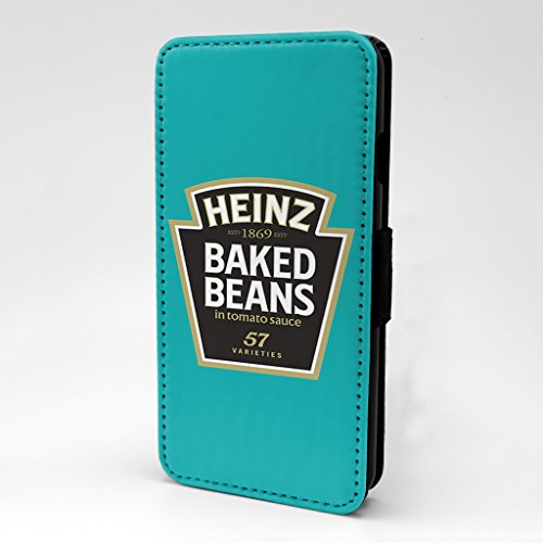 Price comparison product image Food Snacks Printed Phone Flip Case Cover For Apple iPhone 6 Plus - 6S Plus - Heinz Baked Beans - S-G1007