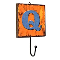 Panda Legends Creative Retro Style Wall Hooks Wood Material Letter Pattern Decorative Hook (Q)