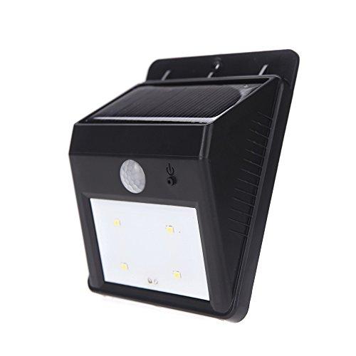 Anself Solar Powered Luminoso 4LED Luce PIR Motion Sensor Impermeabile rispettosa dell'ambiente per Pathway esterna Gradino Giardino Yard