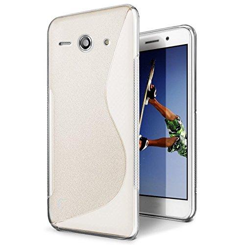 CoolGadget Huawei Ascend Y530 Hülle, Ultra Thin Tasche Cover Schlank Weich Flexibel Anti-Kratzer Schutzhülle Abdeckung Case, Silikon Cover für Ascend Y530 Transparent-Case