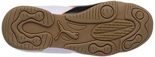 Puma Universal II IT Unisex-Kinder Hallenschuhe Weiß (white-black-fluo flash orange 02) dH0wySX1Fo