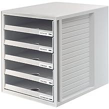 HAN 1401-11 Module de rangement 5 tiroirs ouverts pour C4, PS 275 x 320 x 330 mm (Gris clair) (Import Allemagne)