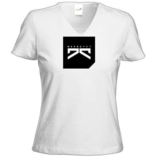 getshirts - Moondye7 official Merchandise - T-Shirt Damen V-Neck - Logo 2 Weiß
