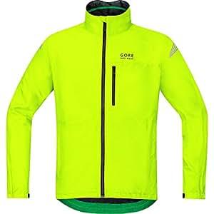 GORE BIKE WEAR Herren Regen-Fahrradjacke, Super Leicht, GORE-TEX, ELEMENT GT Jacket, Größe: S, Neon Gelb, JGMELE