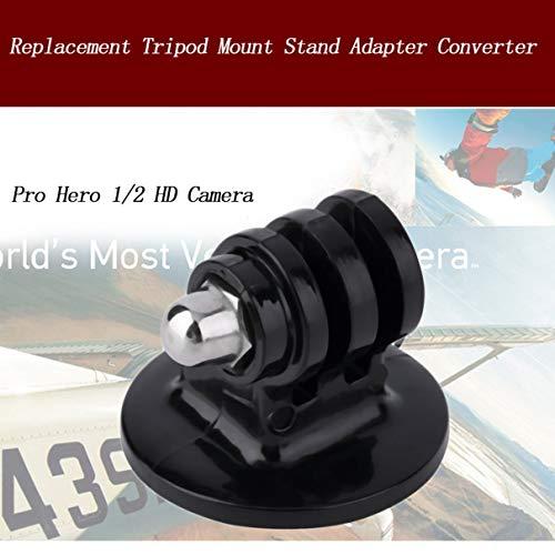 Universellen Ersatz Stativanschluss Mount Adapter Converter Standplatz für GoPro Hero 1 oder 2 Camcorder Gemeinsame Kameras Schwarz (Farbe: Schwarz)